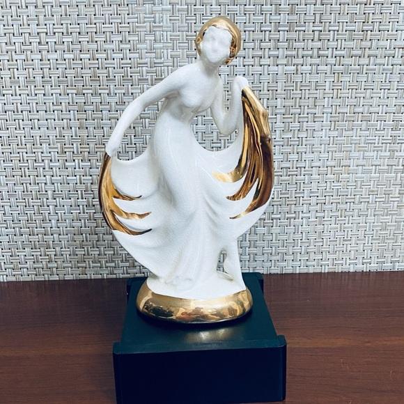 🌟2xHP🌟VTG 1930s Art Deco Porcelain Dancing Lady